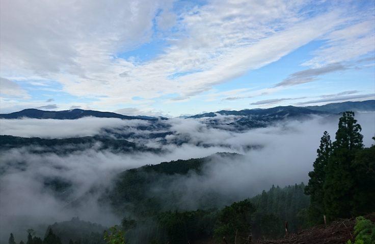 宮崎県諸塚村倉の平からの雲海