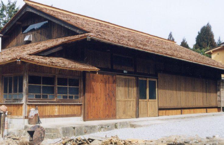 宮崎県諸塚村のやましぎの杜杉皮屋根